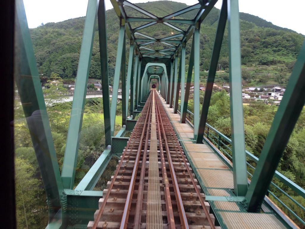 予土線の三島鉄道橋