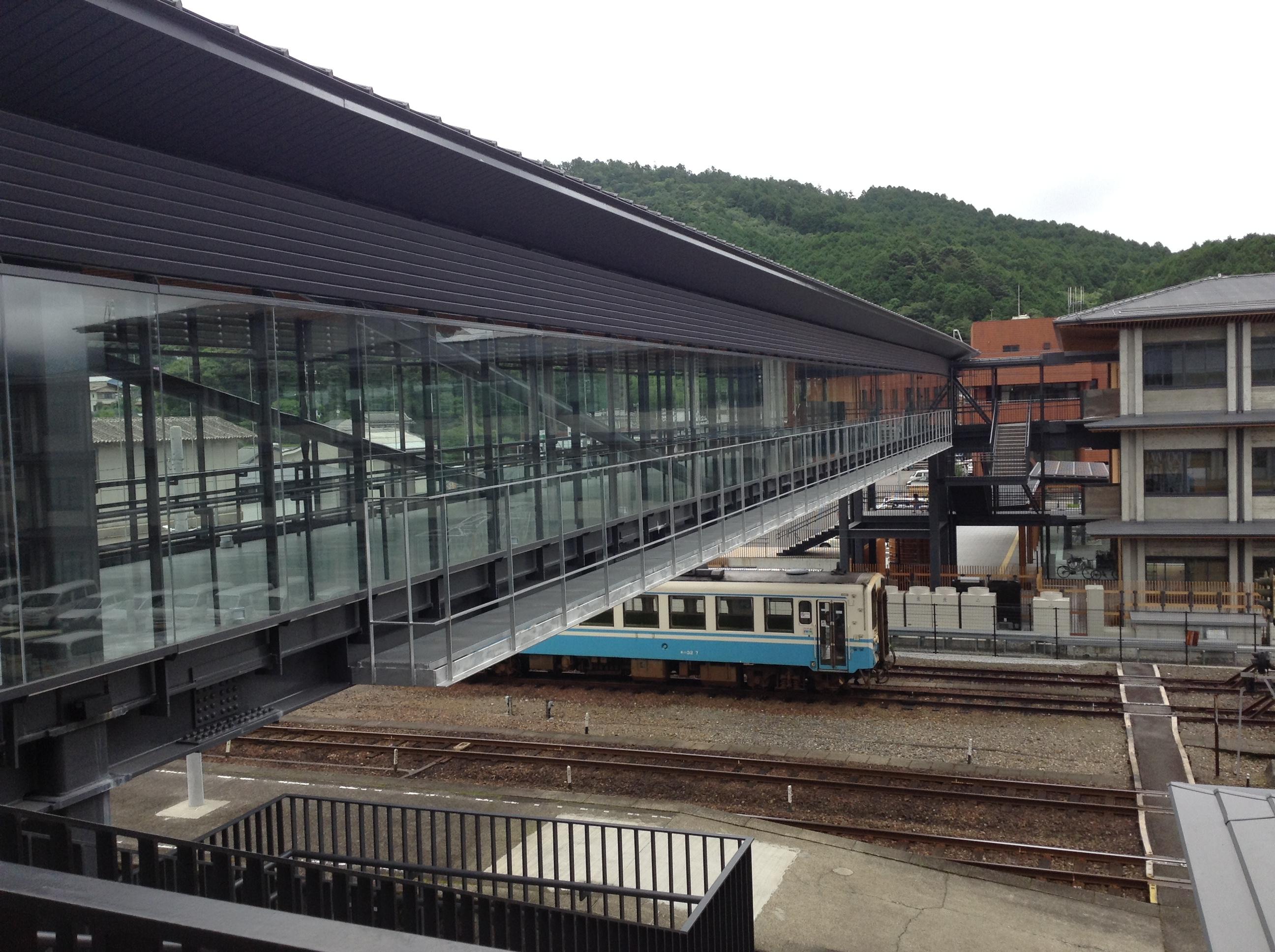 JR窪川駅をまたぐ橋