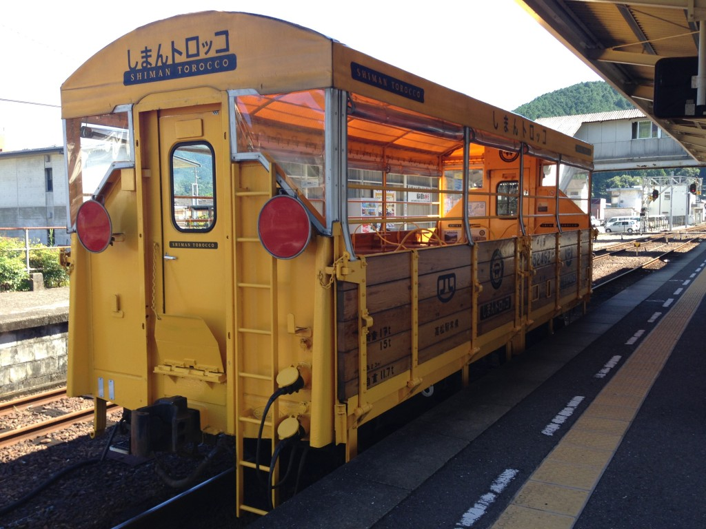 窪川駅のしまんトロッコ